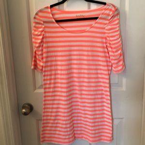 Lilly Pulitzer Kaley dress sunrise orange stripe M